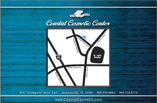 back cover of booklet for Coastal Cosmetic